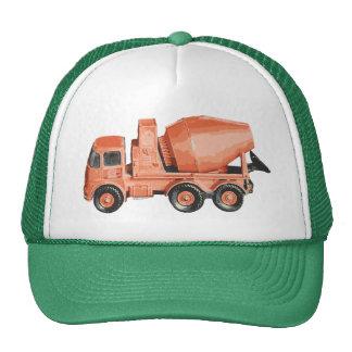 Concrete Orange Cement Toy Truck Cap
