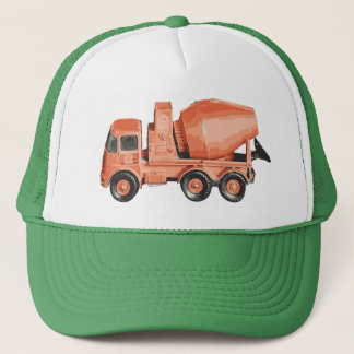 Concrete Orange Cement Toy Truck Trucker Hat