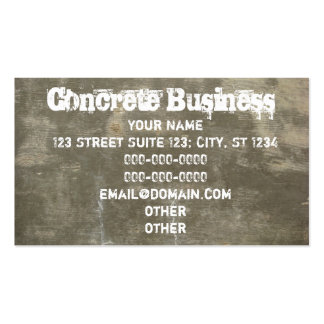 Concrete Pack Of Standard Business Cards