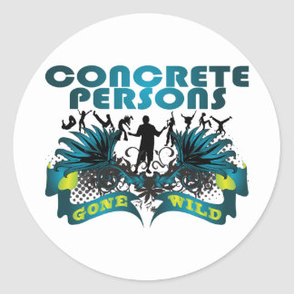 Concrete Persons Gone Wild Classic Round Sticker