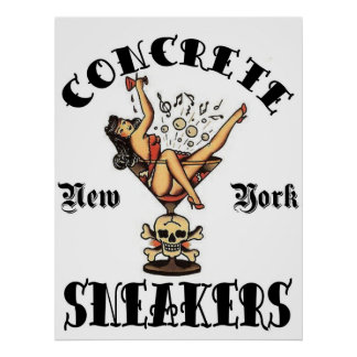 "CONCRETE SNEAKERS ""TATTOO LOGO"" POSTER"