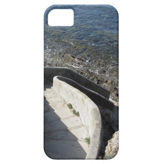 Concrete staircase down to the sea . Spiral stairs Barely There iPhone 5 Case