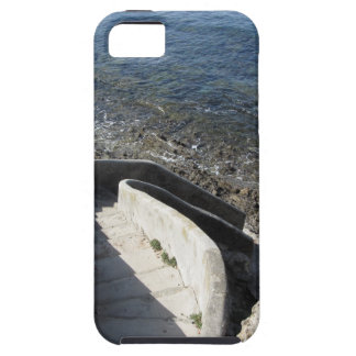 Concrete staircase down to the sea . Spiral stairs Case For The iPhone 5
