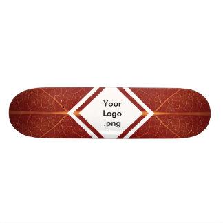 Concrete Surfer Red Leaf As-is / Customisable Deck Skateboard Deck