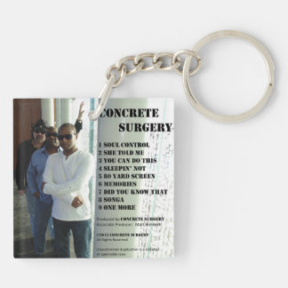 """Concrete Surgery """"The Second Album"""" keychain. Key Ring"""