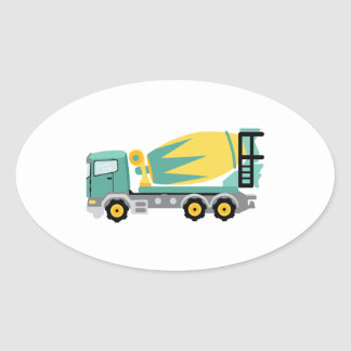 Concrete Truck Oval Sticker
