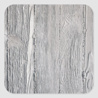 Concrete Wood Square Sticker