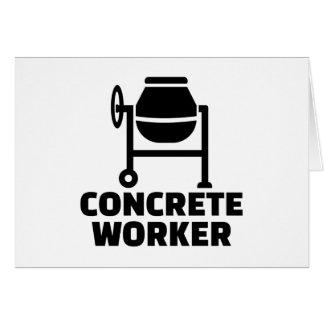 Concrete worker card