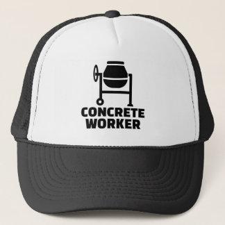 Concrete worker trucker hat