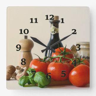 Condiments Square Wall Clock