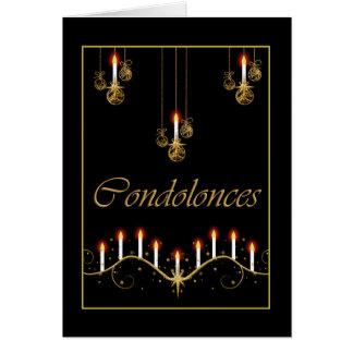 Condolence funeral bereavement card