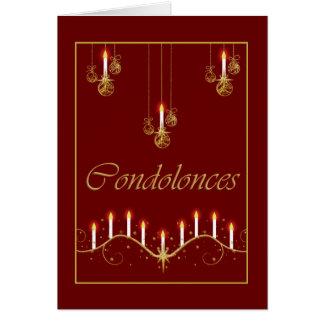 Condolence funeral bereavement greeting card