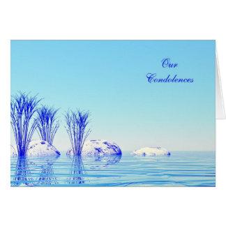 Condolences, a peaceful water card