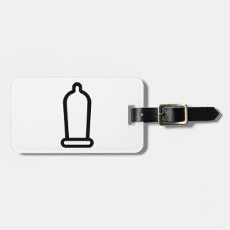 Condom Luggage Tag