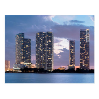 Condominium towers at the waterfront in Miami Postcards