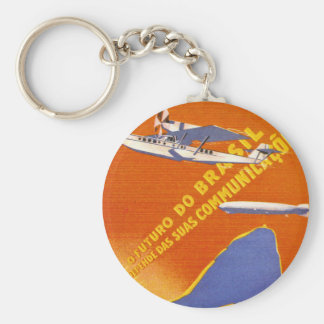 Condor ~ Brazillian Air Service Basic Round Button Key Ring