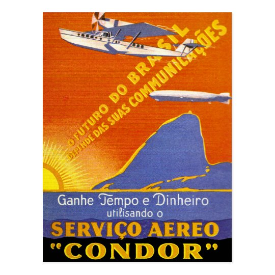 Condor ~ Brazillian Air Service Postcard