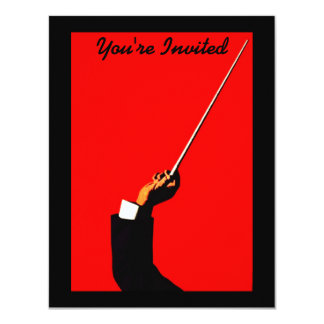 CONDUCTOR BAND LEADER RECITAL ORCHESTRA INVITATION