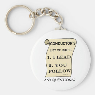 Conductor List Of Rules Keychain