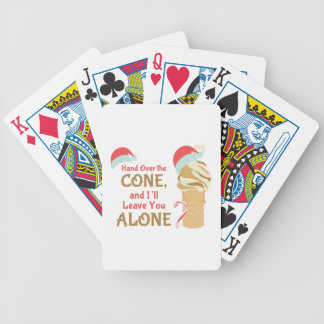 Cone Alone Bicycle Playing Cards
