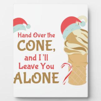 Cone Alone Plaque