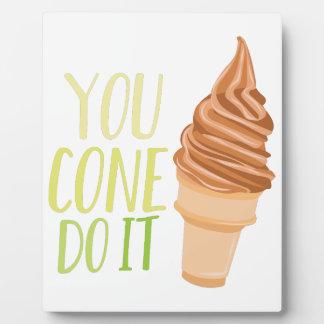 Cone Do It Plaque