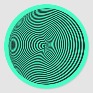 Cone Moire: Optical Illusion Hypnotic Spiral Classic Round Sticker