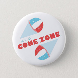 Cone Zone 6 Cm Round Badge
