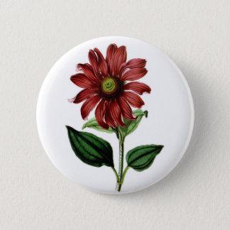 Coneflower 6 Cm Round Badge