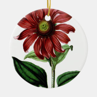 Coneflower Ceramic Ornament