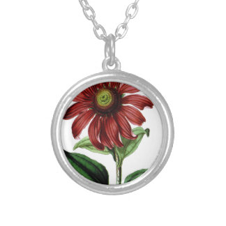 Coneflower Silver Plated Necklace