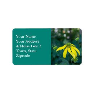Coneflower Yellow Wildflower Address Labels