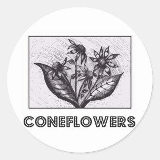 Coneflowers Classic Round Sticker