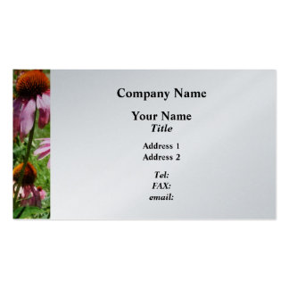Coneflowers in Garden  - Platinum Finish Business Card Template