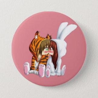 Conejito and Tigre, Chibi 7.5 Cm Round Badge