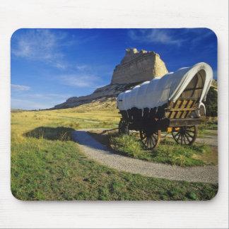 Conestoga wagon at Scottsbluff National Mouse Pad