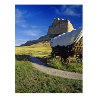 Conestoga wagon at Scottsbluff National Postcard