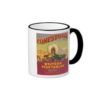 Conestoga Western Vegetables VIntage Crate Label Ringer Mug