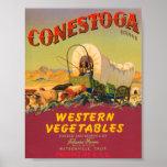 Conestoga Western Vegetables VIntage Crate Label Posters