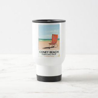 Coney Beach Porthcawl Wales travel poster Travel Mug