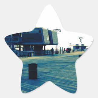 Coney Island Boardwalk Star Sticker