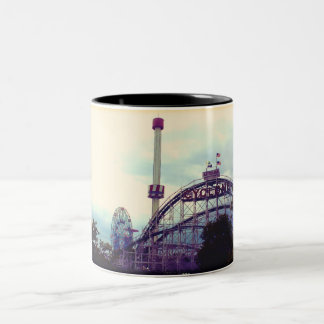 Coney Island Cyclone Two-Tone Coffee Mug