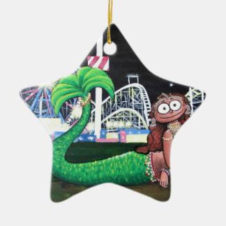 Coney Island Mermaid Ceramic Ornament