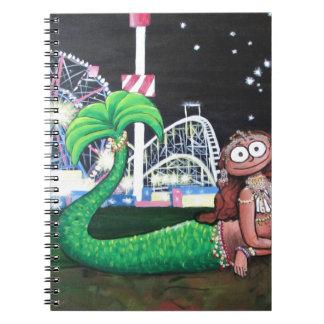 Coney Island Mermaid Spiral Notebook