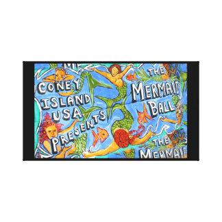 Coney Island Mermaids Ball Canvas Print