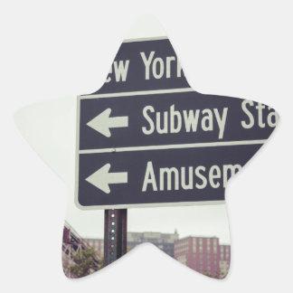 Coney Island Sign Star Sticker