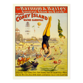 Coney Island Water Carnival Postcard Poster