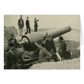 Confederate Army Siege Gun at Fort McAllister Card