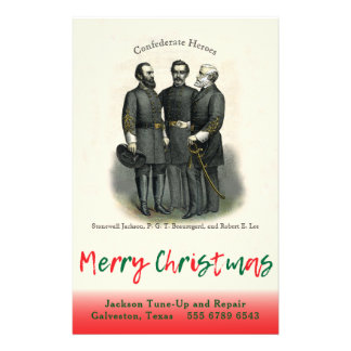 Confederate Christmas Auto Custom Shop Template Flyer