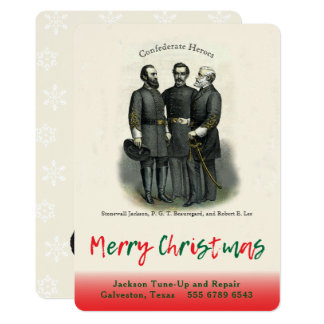 Confederate Christmas Automotive Shop  Template